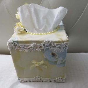 Shabby Chic style hand made tissue paper cover.